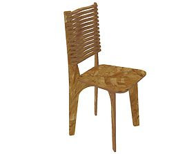 3D print model Wooden chair for CNC router or laser cut