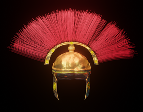 Roman Republic era Centurion helmet 3D asset game-ready