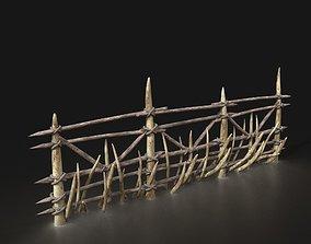 Orc Orcish Barbarian Poacher Palisade Walls 3D asset 4