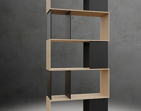 Twist 7 Shelf Bookcase 3D