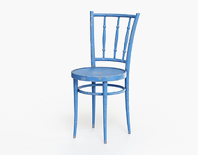 3D model painted Old Wooden Chair