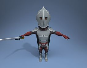Knight 3D asset rigged