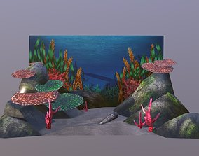 Aquarium Background 3D asset