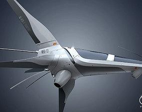3D VEG-03 Spaceship
