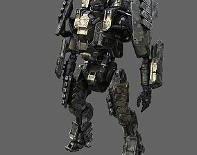 Military Robot 3D model rigged