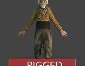 rigged Terrorist Character Model