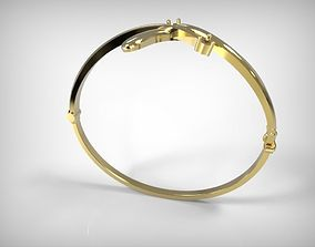 Jewelry Golden Slim Bracelet 3D printable model