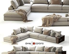 3D model Flexform Groundpiece Sectional Sofa