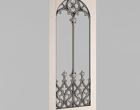 3D print model Carved door