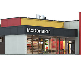 3D McDonalds restaurant 04 exterior