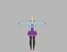 anime model Cartoon characters animated
