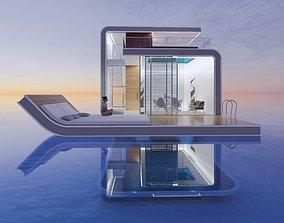 Futuristic Sea House 3D