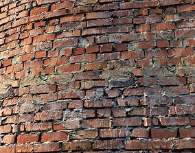 Material of an old brick wall 3D asset low-poly