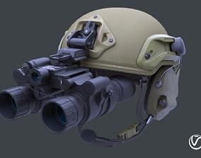 3D model Tactical helmet set