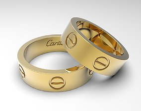 3D print model Popular rings called Love sizes 14 and 24 1