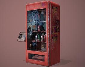 3D asset Old vending machine