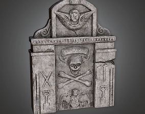 3D model Grave Stone Cemetery 12 CEM - PBR Game Ready
