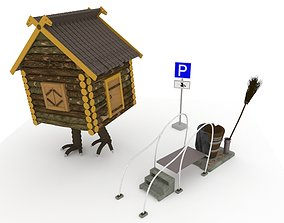 Parking place for baba Yaga 3D asset
