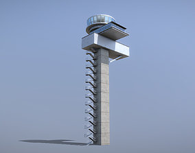 3D asset Airport Control Tower EDDF Lufthansa Tower 1