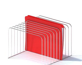 Wire Frame File Organizer 3D