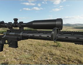3D model GameReady Sniper Rifle