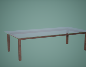 Dining Table Low Poly Game Ready 3D asset