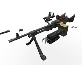 3D model M240 FN MAG Game Ready Kit