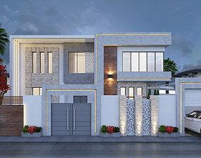 3D model modern villa building