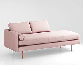Monroe Mid-Century Chaise Lounger by West Elm 3D