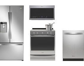 3D Whirlpool kitchen appliances