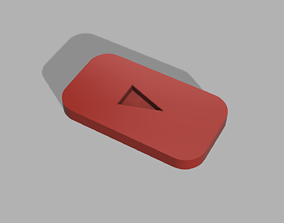 YT Logo STL 3D printable model