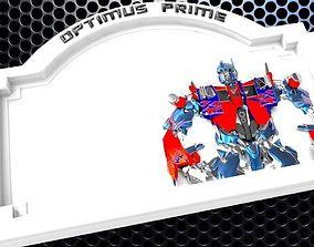 Optimus Prime Bedroom Door Sign Template 3D print model 2