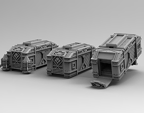 Legion Longsword Mortar ammo crates 3D printable model