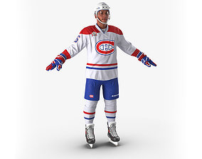 3D model Hockey Player Montreal Canadiens