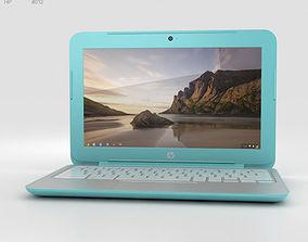 3D model HP Chromebook 11 G3 Ocean Turquoise