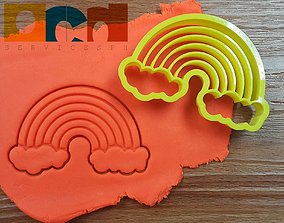Rainbow cookie cutter stl file 3D print model