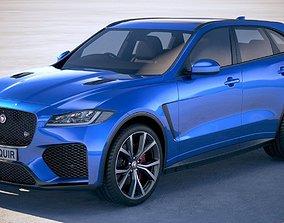 3D Jaguar F-Pace SVR 2019 luxury