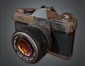 3D asset low-poly SLR Camera Retro 80s