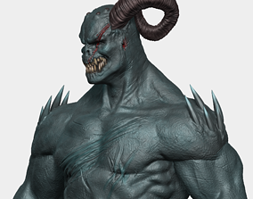 Demon Bust 3D printable model