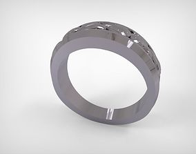 3D printable model Silver Ornamented Top Ring Jewelry