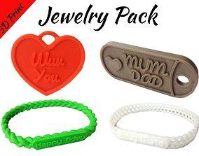 Jewelry Pack - Bracelet Wristband Pendant 3D print model 3