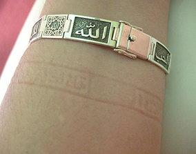 3D print model Bracelet with arab word HAPINNES FAMILY