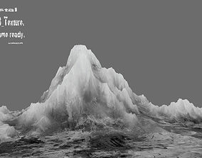 rock 3D model game-ready iceberg