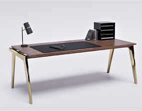 Decorated Desk 3D-Model