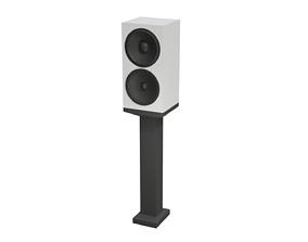 Speaker and Pedestal 3D model