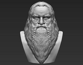 Gimli Lord of the Rings bust 3D printing ready stl obj 1