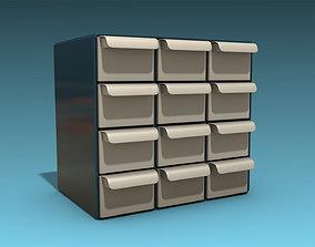 3D asset Storage Cabinet Drawers 01