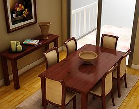 Dinning set imagination 3D