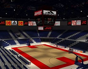 Basketball Arena court 3D model