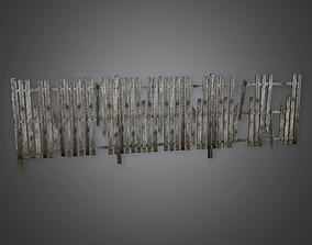 3D asset Outdoor Fence 05 GFS - PBR Game Ready